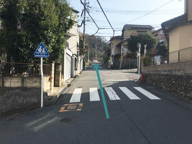 【道順7】坂道が続きますので注意して進んでください。