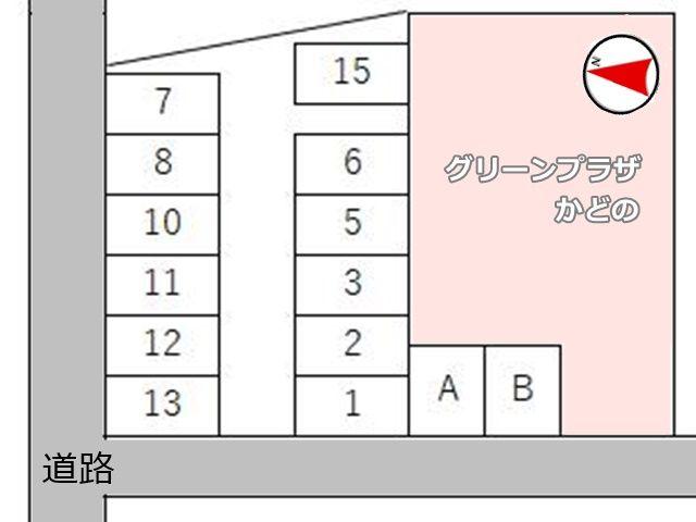 駐車場の区画図です。