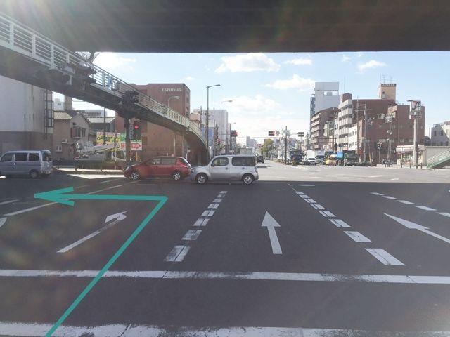 1.国道173号線(大正通)を「泉尾」交差点で木津川方面へ左折します