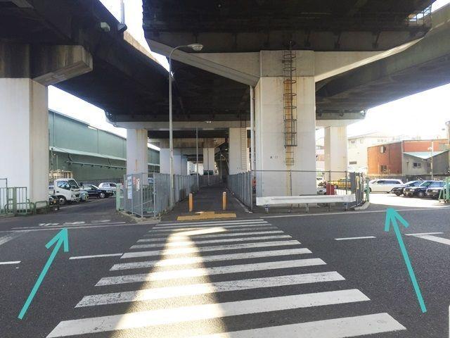 【道順9】※【国道43号1号駐車場】は入り口が2つございます。