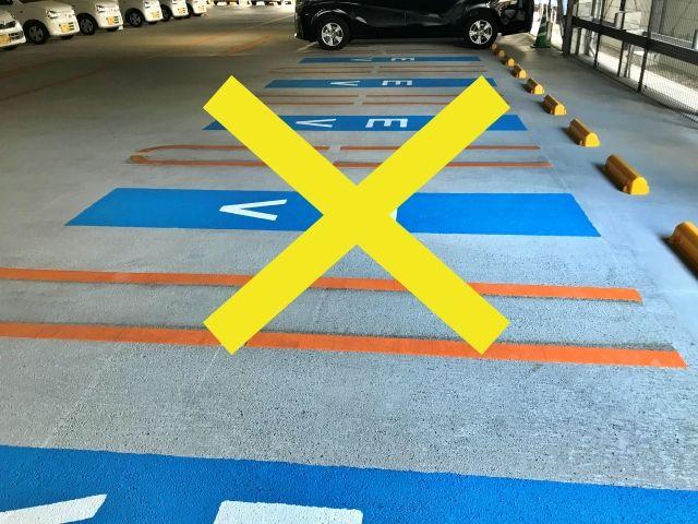 カラーコーンの置いていないスペースには、駐車いただけませんので、ご注意ください。