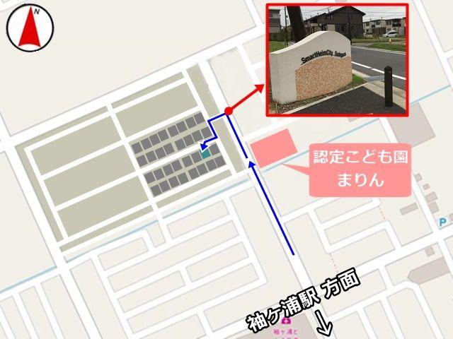 周辺マップと、駐車場の位置です。必ずご確認下さい。