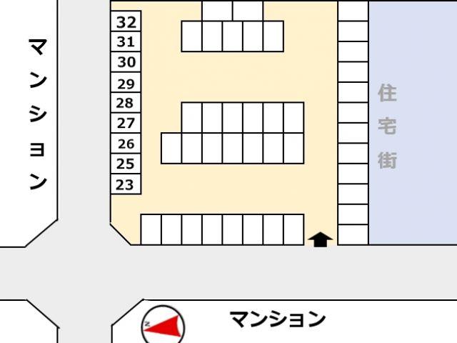 区画図をご確認の上、ご利用スペースに間違いのないようにご注意下さい。