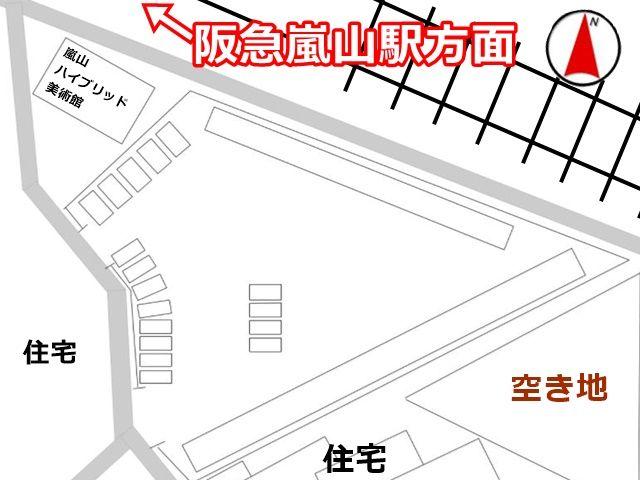駐車場の全体図です。ご利用スペースは、他の掲載写真をご確認ください