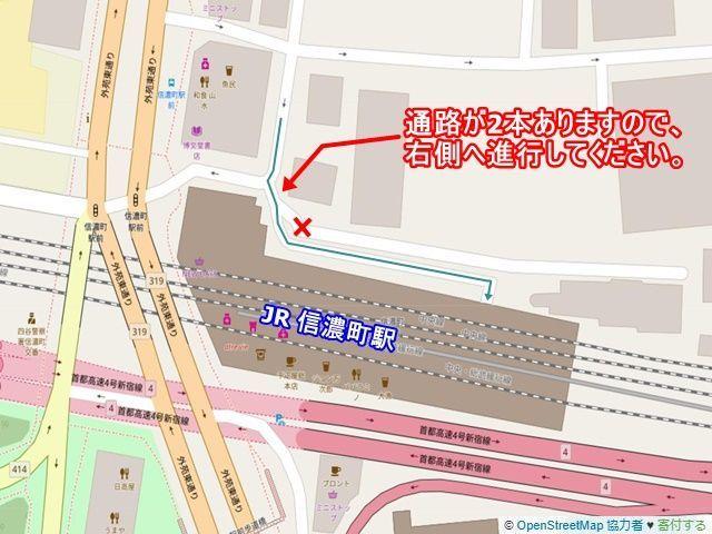 駐車場までの区画図です。緑の矢印通りにお進みください。※現地の交通状況を考慮し駐車してください