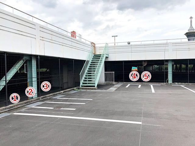 現地駐車場です、ご予約のスペースをご確認ください