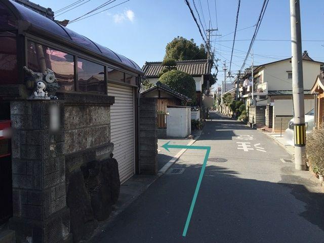 【道順6】矢印に沿って左折してください。