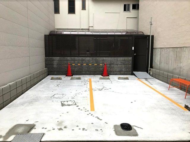 【道順4】ご利用駐車場になります。ご予約された駐車場に間違いないか確認し、ご予約されたスペースに駐車してください。