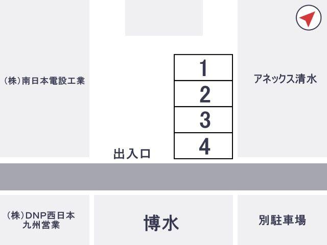 博水駐車場【月~土:19:00~翌朝6:00まで】