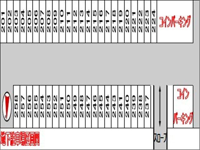 地下駐車場の区画図(2)