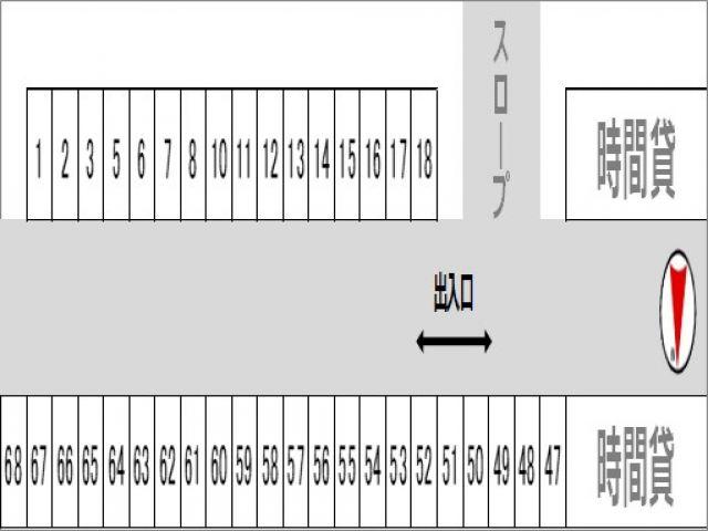 地下駐車場の区画図(1)