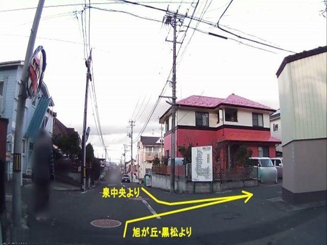 【道順1】バス通りからの入り方です。
