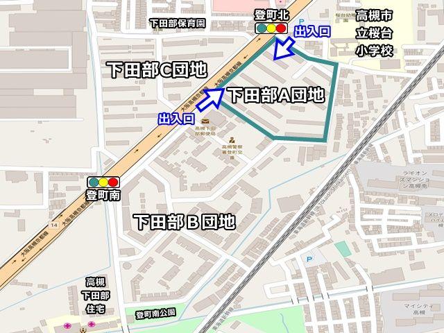 【周辺地図】ご利用いただく駐車場は「下田部A団地」の駐車場です