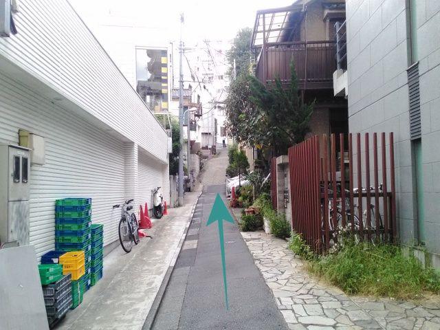 【道順2】50mほど直進後、「左側」にakippa駐車場があります。