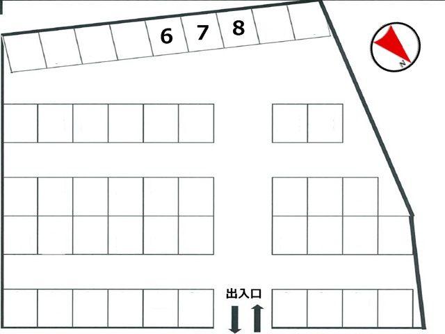 駐車場区画図です。