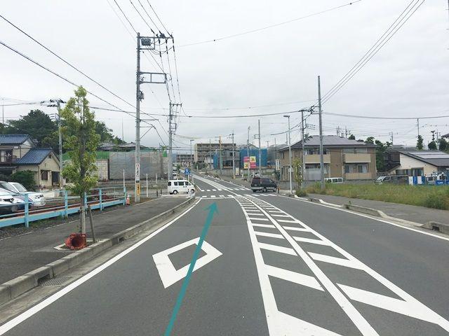【道順1】県道612号線「南金目交差点」を「みずほ小学校」方面へお進みください。