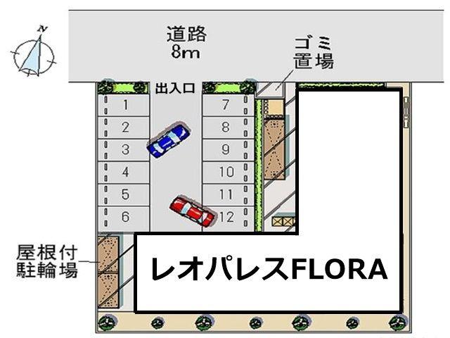 駐車場の配置図です。