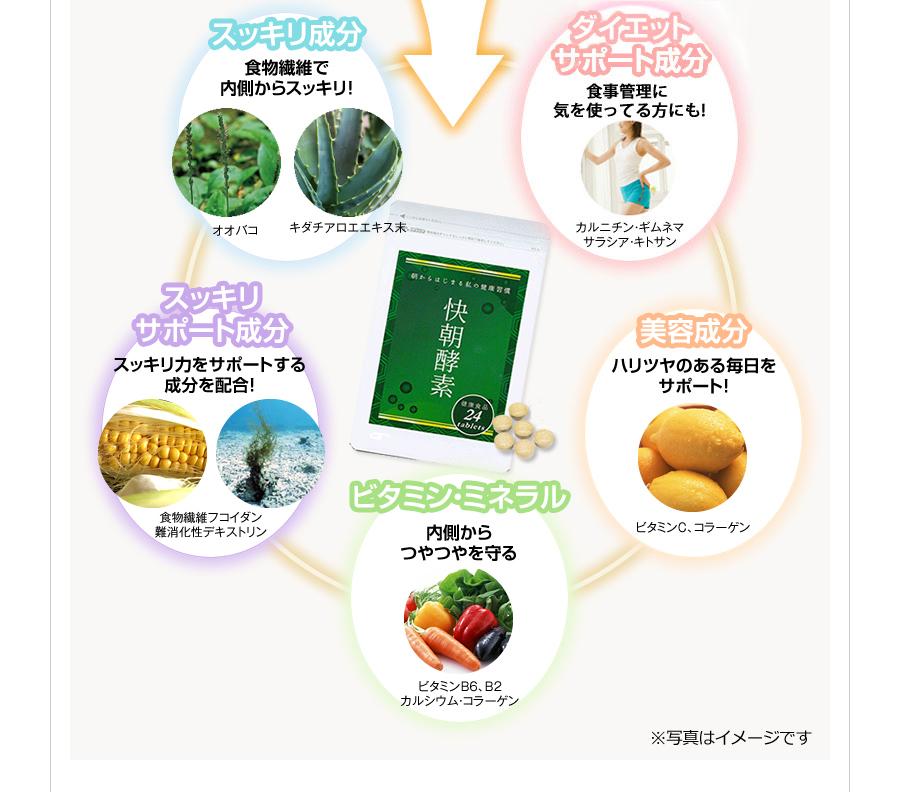 スッキリ成分 ダイエット成分 美容成分 ビタミン・ミネラル スッキリ サポート成分