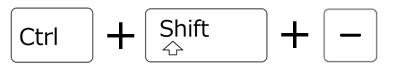 excel_key_ctrl+shift+-