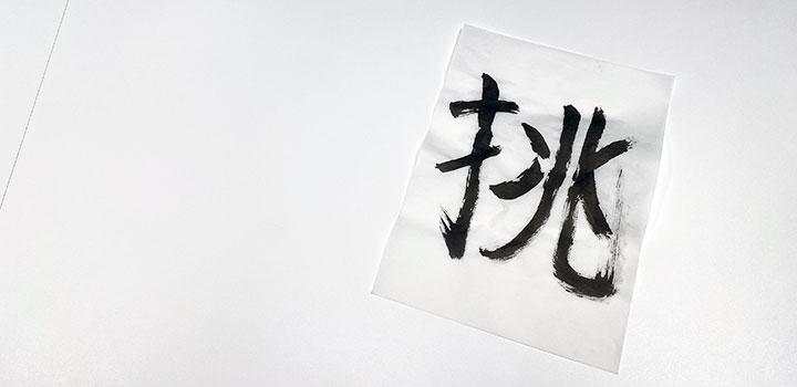 関口の今年の漢字「挑」