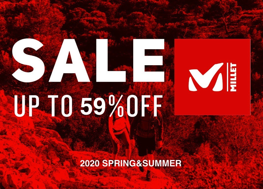 【MILLET】MORE PRICE DOWN!夏物が40%OFF!目玉は59%OFF。