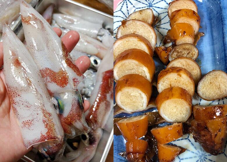 イカメタルで釣れたケンサキイカで作る 時短で美味しい「炊かないイカ飯」レシピ!