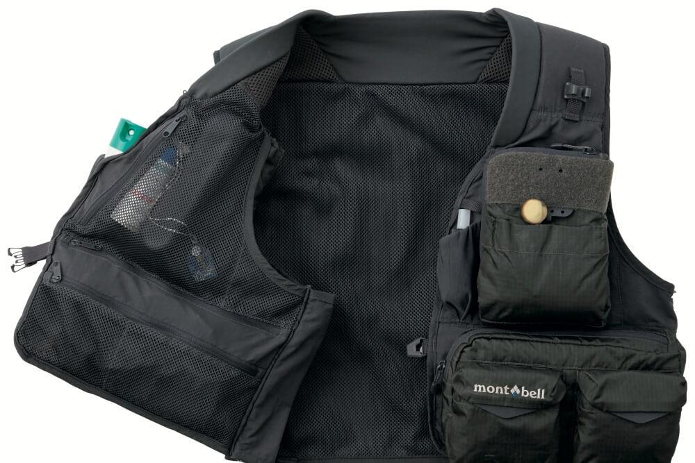 ポケット全31個! モンベルの本格フィッシングベストは、手ぶら派必見の超収納モデル。