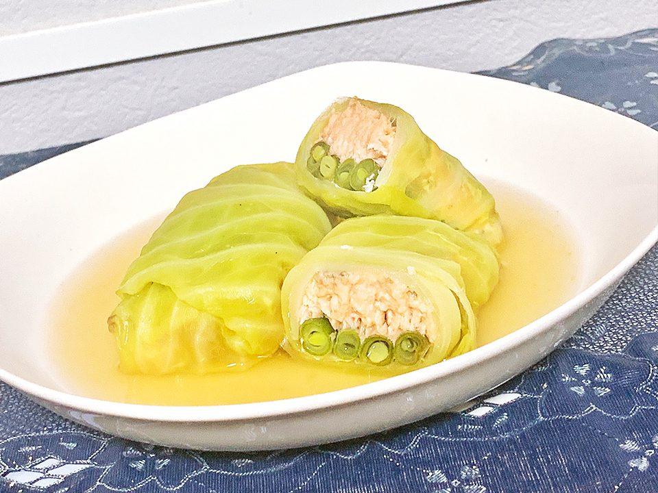【レシピ】旬の食材で秋を感じよう?秋鮭のロールキャベツ