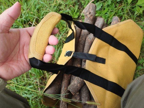 【何気に便利】薪の持ち運びを楽にする薪トートバッグGETだぜ!