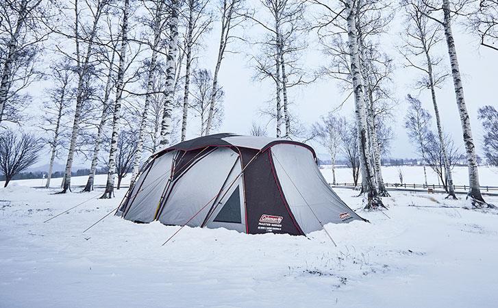 マスターシリーズのテントで秋冬キャンプを快適に