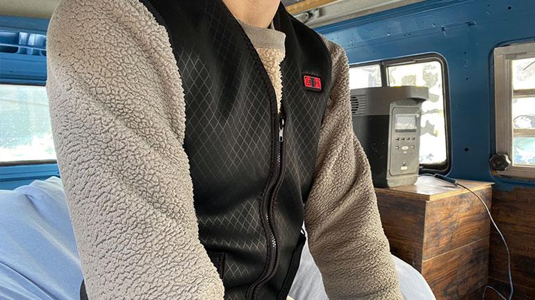 電熱ベストは車中泊の防寒対策に有用なのか?実際に検証してみた!