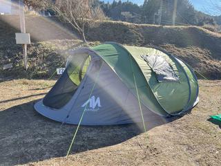 【検証】冬キャン初心者がポップアップテント泊してみた!「Ayamaya(アヤマヤ)」で冬キャンプはできるか?