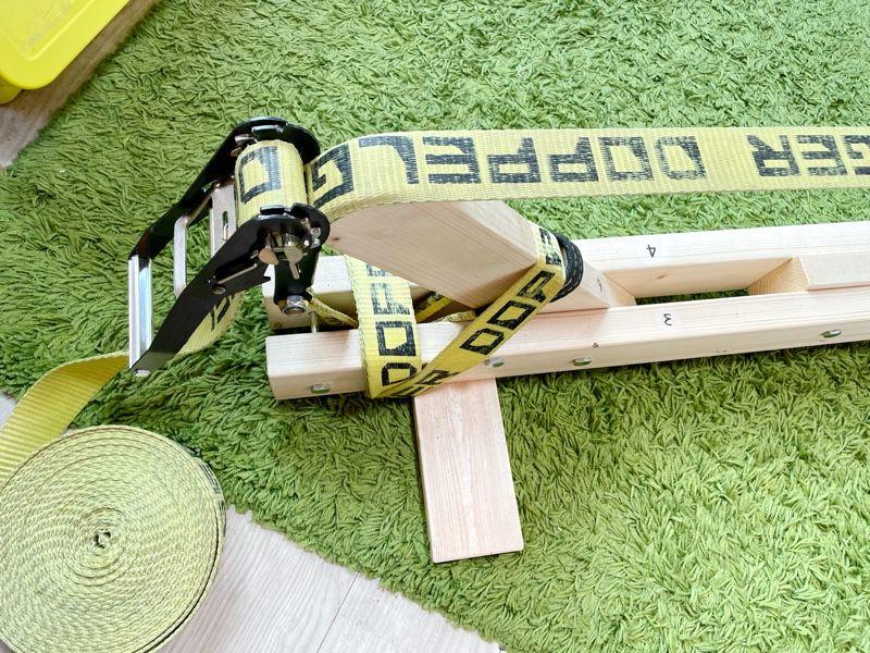 木製のスラックラック(スラックラインスタンド)を購入!エントリーモデルにおすすめ!価格はギボン(Gibbon)社製の5分の1