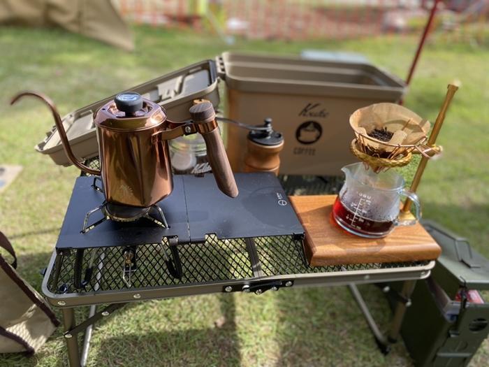 K助コーヒーシステムBOXの中身はこんな感じで、出先で珈琲を楽しめるようにしてみました!