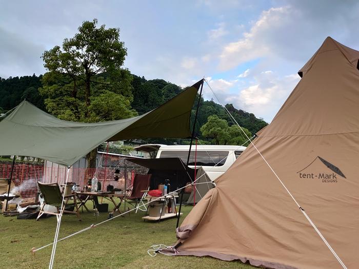 福岡県の奥八女焚火の森キャンプフィールドでソロデュオキャンプ(6/16~17)1日目