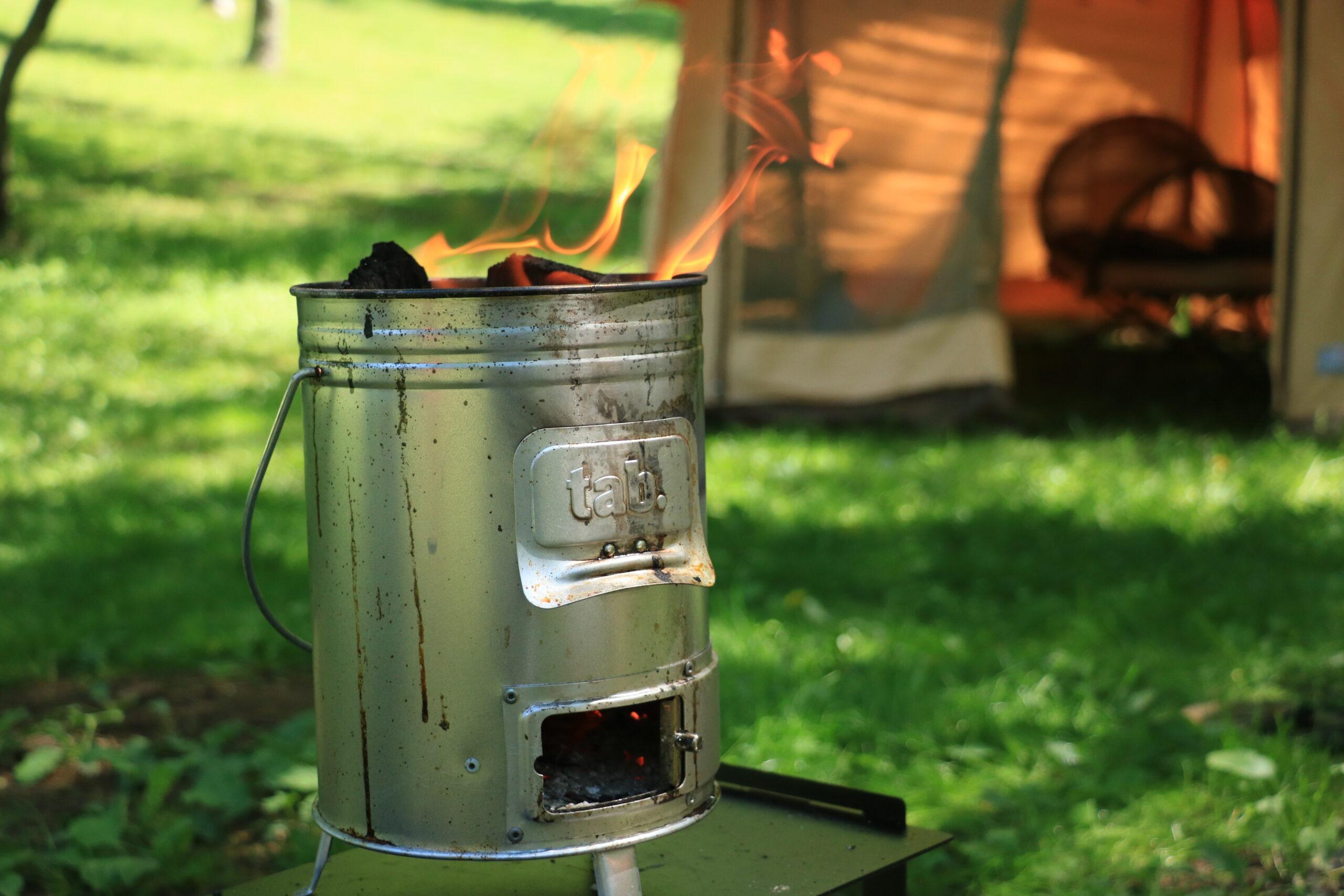 久しぶりにダサカッコ可愛いイケてる焚火台?BBQグリル?見つけたわ。【tab.マルチに使える缶ストーブ】