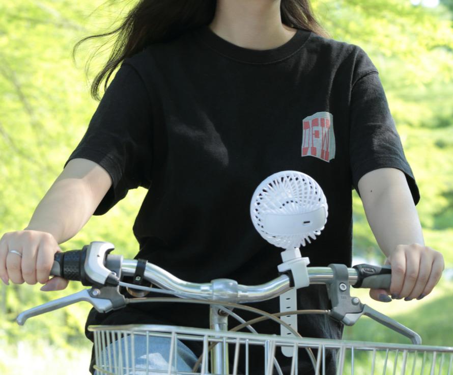 自転車に装着するための扇風機「川住製作所 サイクリングファン」