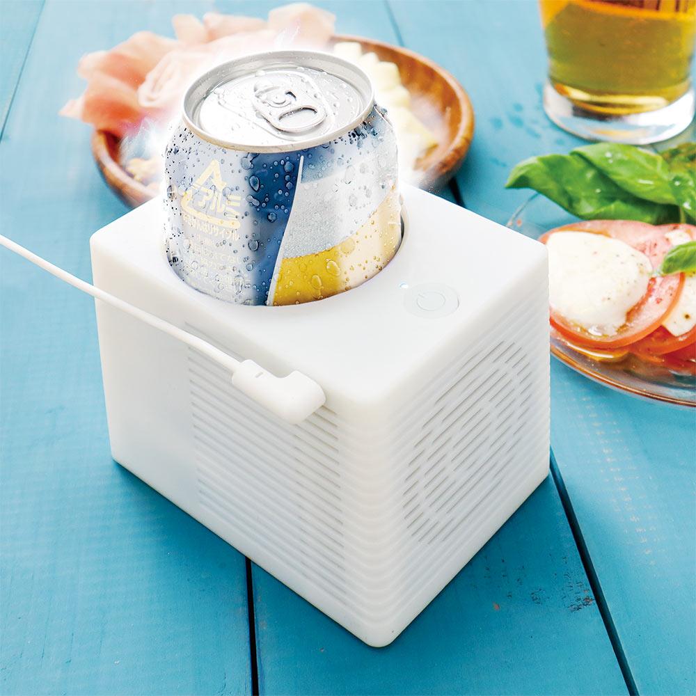 """缶を""""キンキン""""に冷やすUSB給電式の保冷機がヴィレヴァンオンラインで発売開始"""