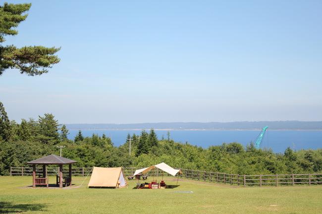 標高100mの天空キャンプ