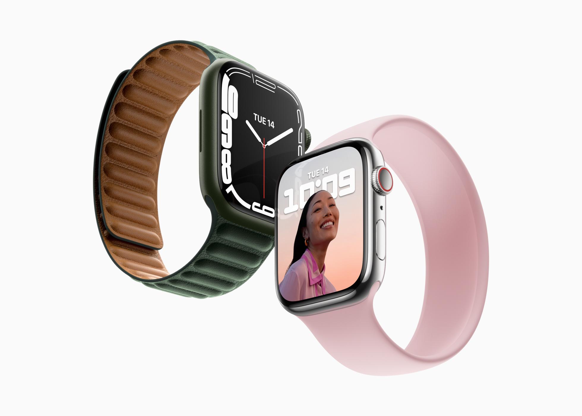 「Apple Watch Series 7」新登場!ディスプレイは過去最大、自転車ユーザー向け新機能も