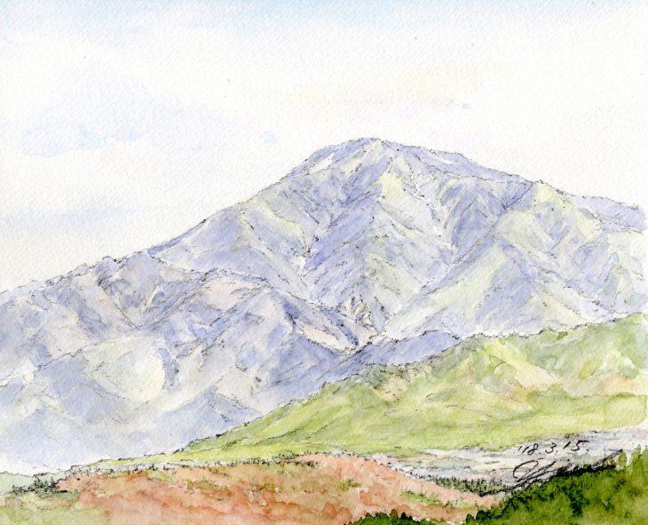 筆とまなざし #083「中津川の人々を見守る恵那山の風景を探して」
