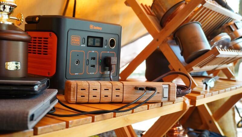 木目の延長コード fargo「TAPKING USB」がオシャレ & 6機能付き