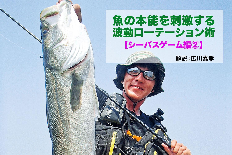 魚の反応を刺激する波動ローテーション術【シーバスゲーム編②】