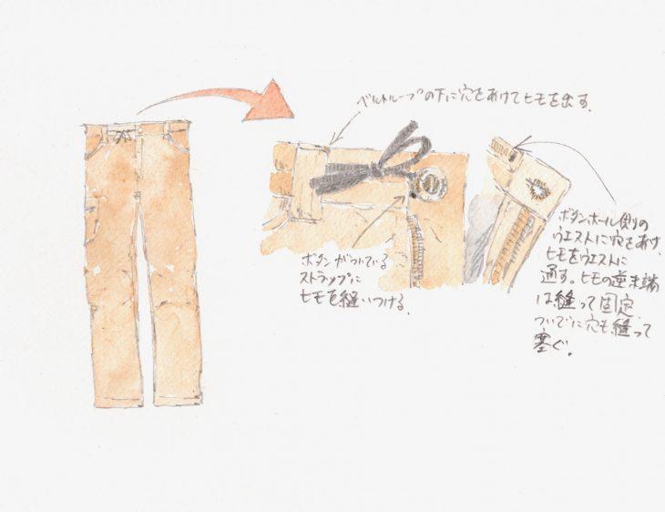 筆とまなざし #107「秋の夜長の手仕事にトレッキングパンツのカスタマイズ」