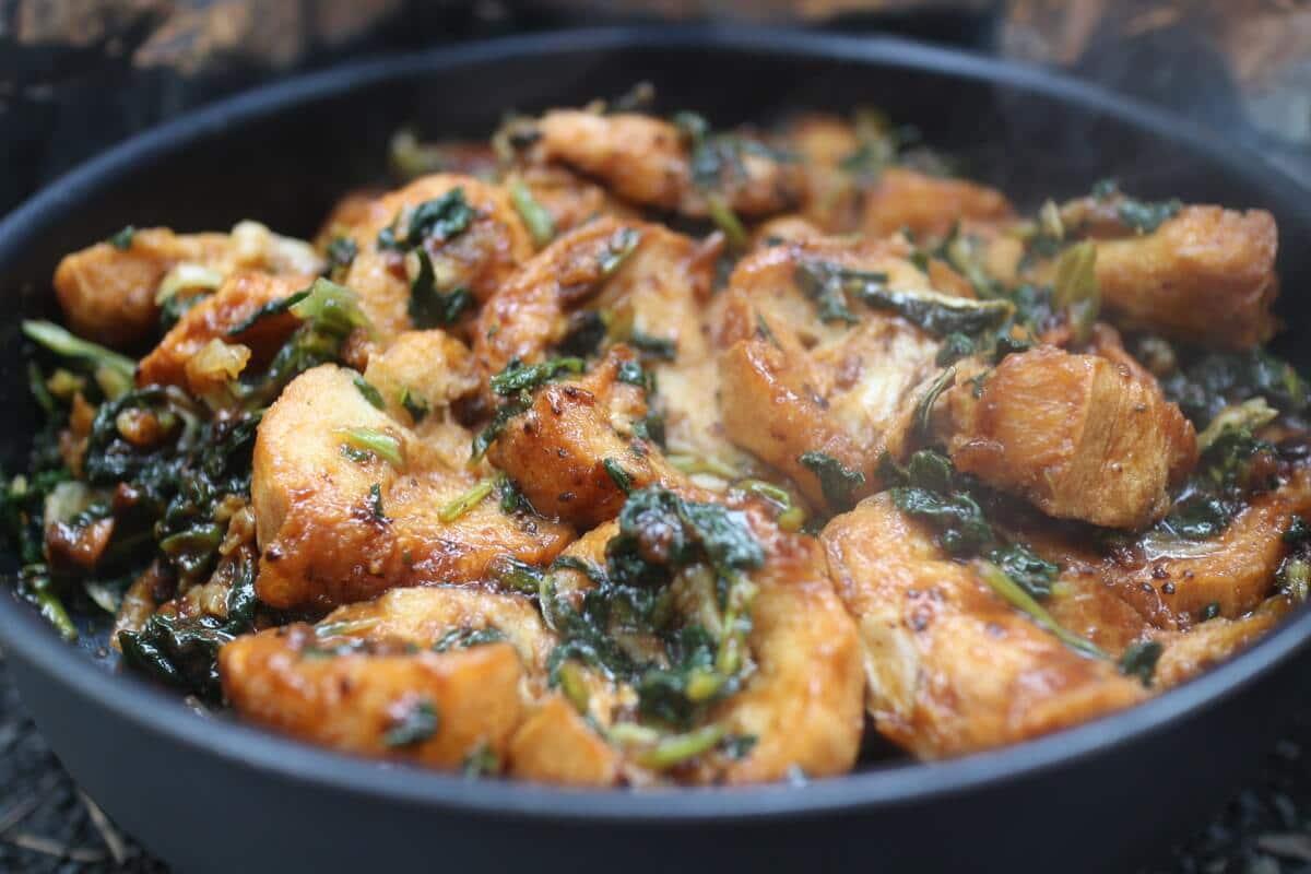 フライパンで作る山ごはん『仙台麩回鍋肉』