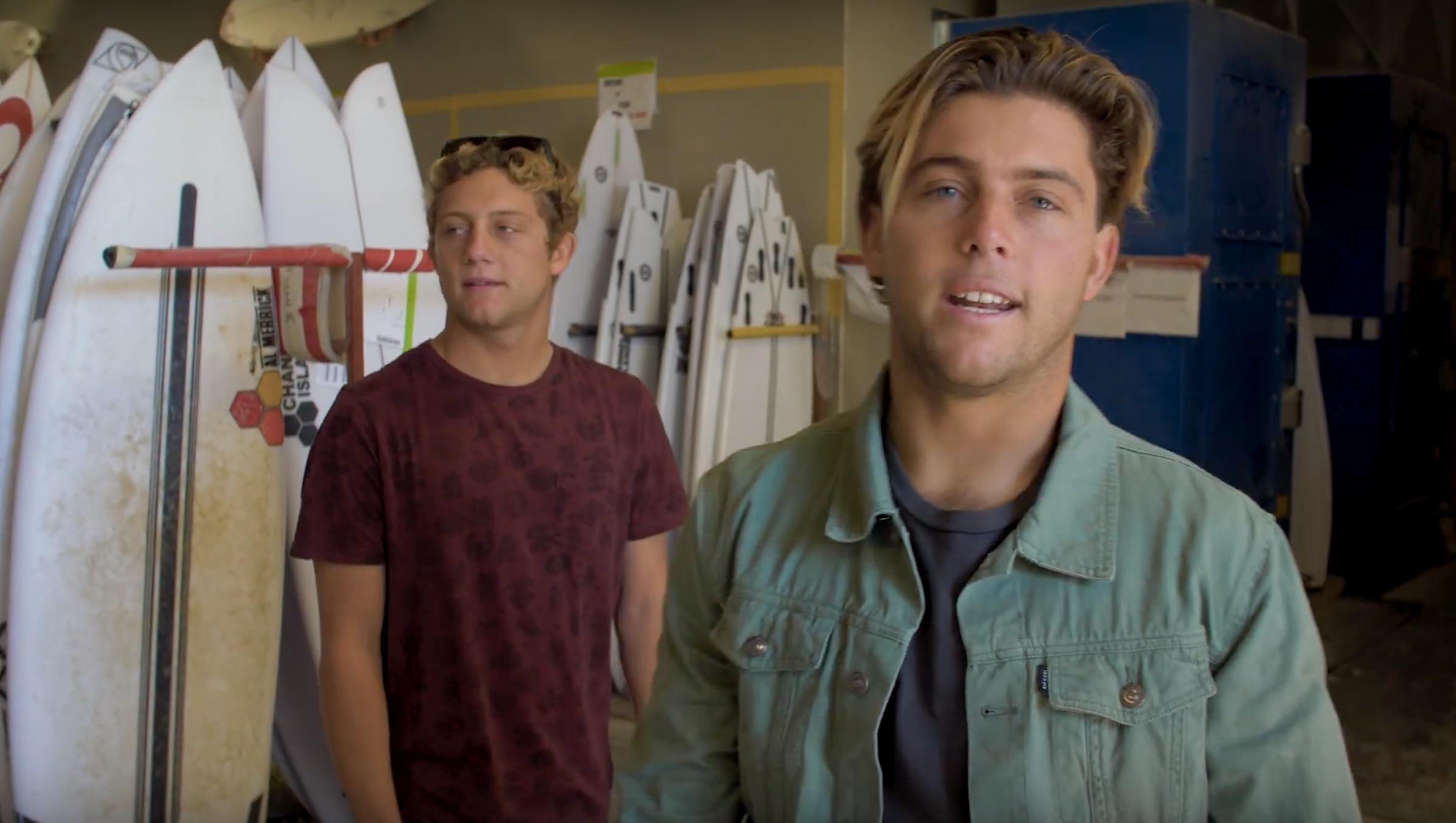 【最新動画】Conner & Parker Coffin兄弟によるYoung Wise Tails最新エピソードは世界一流サーフボードブランドChannel Islands surfboardsのファクトリーを訪問!