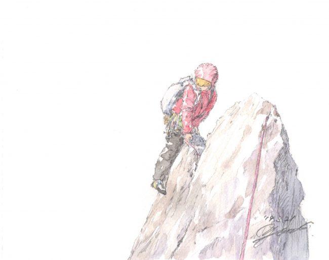 筆とまなざし#124「甲府、太刀岡山にて。春先のマルチピッチクライミング」