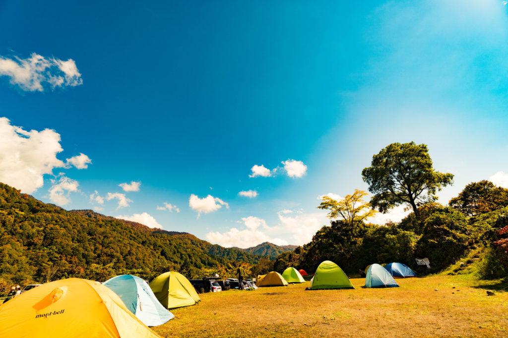 【早朝登山に便利】ハイキングコース近くのキャンプ場