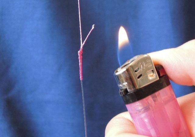 PEラインの切り口は線香で焼いてみて!ライターで焼くより安全で簡単!