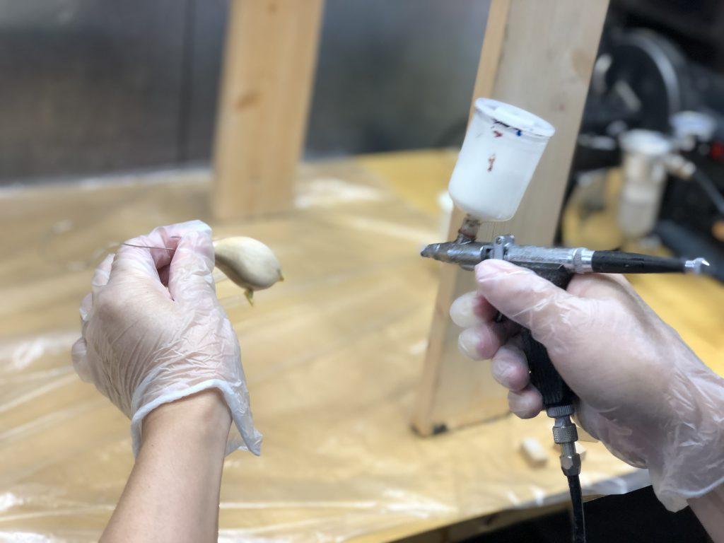 ハンドメイドクランクを作ってみる3。セルロースどぶ漬、下地塗装の巻。